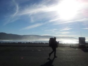 hiker by the beach Jan 20, '13