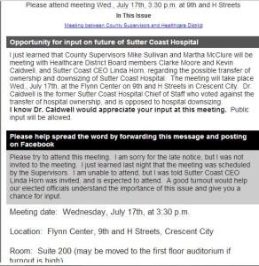 Sutter meeting July 17, '13