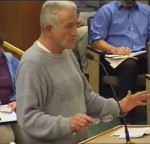 County resident, John Stetson, displaying righteous anger to the council.