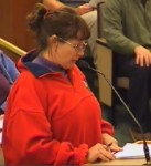 County Resident, Linda Sutter, warns Council to count protests in public