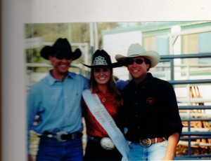 Ashllie Morgan with Kevin Harwick in the white hat and another gentleman