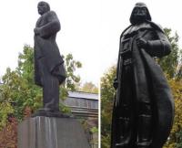 Lenin statue turns into Darth Vader