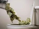 money down toilet 2