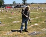 during clean up of cemetery