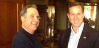 1st District Supervisor, Roger Gitlin with Rick Santorum