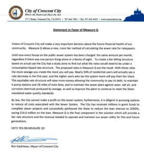 Statement in favor of Measure Q