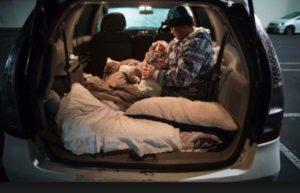 homeless sleeping in car